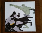 Killer Croc versus Batman canvas print reserved for user LuminousSkies ONLY