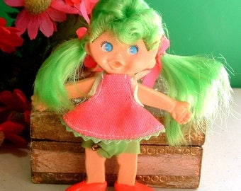 """1969 Retro """" SUMMER TIME Sisters """" Younger Sister FLATSY Doll Original Outfit - 47 Years Old"""