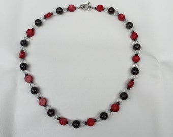 Coral and Garnet Necklace