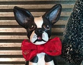 Boston Terrier Christmas Box Vignette