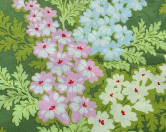 Heather Bailey Nicey Jane Picnic Bouquet, green, OOP, rare, half yard,floral fabric