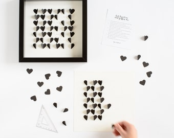 DIY Personalized Heart Picture / DIY kit / Personalised Art