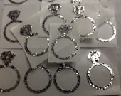 Last ONE   48 pc Silver Glitter Ring Stickers