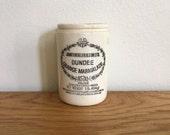Vintage Dundee Marmalade Jar