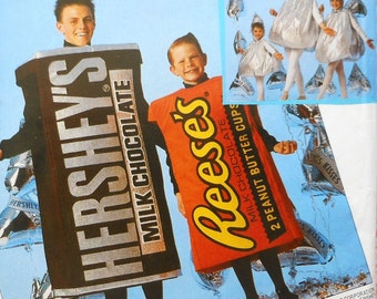 Candy Bar and Chocolate Kiss Costume Sewing Pattern UNCUT McCalls P345 Adult size Small