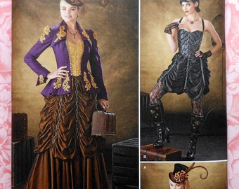 Plus Size Steampunk Cosplay Costume Sewing Pattern UNCUT Simplicity 1248 Sizes 14-22
