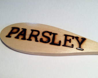 PARSLEY-Wooden Spoon Plant Marker
