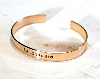 Bridesmaids gift bronze Cuff Bracelet - wedding jewelry