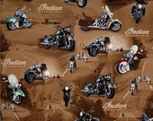 Indian Motorcycle Fabric --Vintage Motorcycles--  HARD Find--LAST piece
