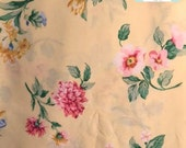 Twin Vintage Yellow Flat Sheet
