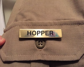Hawkins Police Hopper Name Badge - Stranger Things Costume