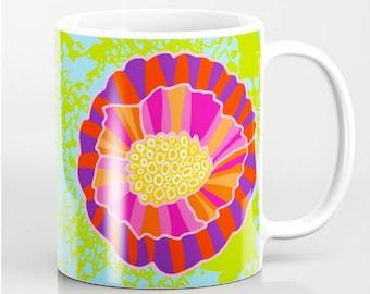 Modern Floral Coffee Mug
