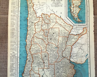 Argentina Map Etsy - Argentina map to print