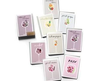 Boxed Set of 8 Wine Profile Cards