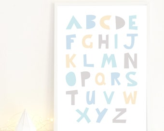 Mod ABC Poster in blue