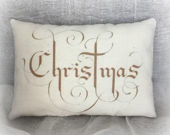 Christmas Pillow   Christmas Gift   Holiday pillow   Christmas present   Unique Christmas gift   Simple Christmas   Elegant Christmas