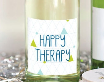 Happy Therapy Cancer WIne Label