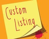 Custom Listing for Jayme - DIGITAL FILE