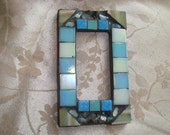 MOSAIC Outlet Cover or Switch Plate, GFI Decora, Shades of Blue, Olive Green, Turquoise