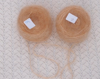 Hand dyed honey blonde golden yellow combed Mohair yarn - waldorf doll hair and knitting crochet crafts.