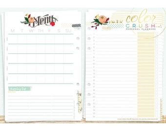 A5 List to Love Inserts for A5 Size Planner • Webster's Pages Color Crush Planner Inserts (P1012)