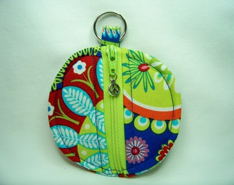 Ear Bud Pouch in Gypsy Paisley in Sapphire - Coin Pouch - Key Pouch - Purse Accessory - Ready To Ship