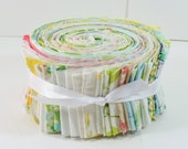 Jelly Roll from Vintage Sheets / Jelly Roll Race Quilt Strips / Vintage Linen Quilting