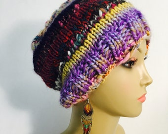Slouchy Multi Colored Hat