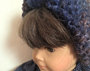 Handmade knitted faux turban, 18-inch Doll size, apparel