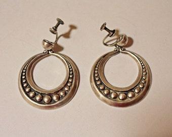 Margot de Taxco Silver Earrings Dangle
