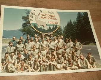 vintage 1969 Boyscout National Jamboree Photo • Idaho