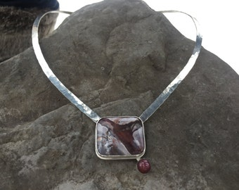 Jasper with Ruby Branch necklace