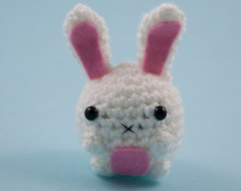 Cute bunny amigurumi tiny plush toy animal