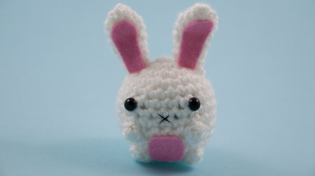 Cute bunny amigurumi tiny plush toy animal