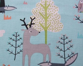 Woodland Scenic Whimsical Forest Animals Timeless Treasures Fabric Yard