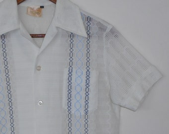 meet me at the bowling club...vintage mens lawn bowls or dress shirt