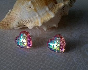Heart Earrings,Pink