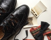 Ghillie brogues Scottish authentic genuine Black leather Gaelic of Edinburgh Mens 6 1/2