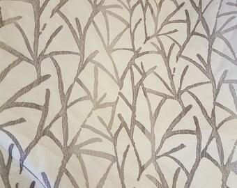 TREE BRANCHES, Barrow Fabrics, Silver Grey, Cream, Upholstery Fabric, 08-14-16-1214