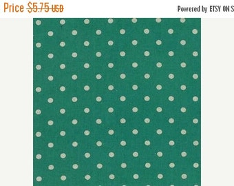 SuperBowl Sale Mochi Linen Dots by Momo for Moda Fabrics, Dots Teal 1/2 yard total