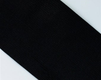 "Black Elastic banding, 3"" wide, goes great with any ruffle fabric color, 1 yd total -more in stock"