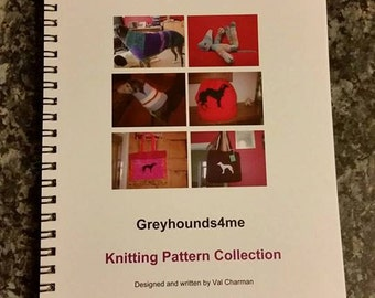 A4 size Printed Book of Greyhounds4me Knitting Patterns