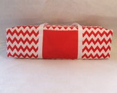 Silhouette Cameo or Cricut Expression Carrying Case / Silhouette Cameo Tote /  Cricut Expression Tote / Red and White Chevron Print