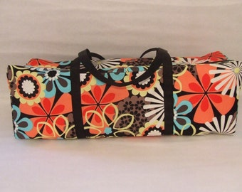 Cricut Explore Air Carrying Bag  / Cricut Expressions 2 Carrying Case / Silhouette Cameo 3 Bag / Multi color Retro large flower print fabric
