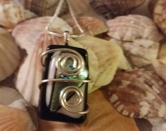 Wrapped Around the Glass Pendant