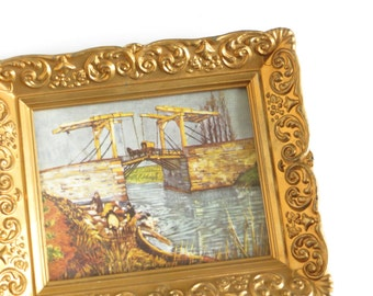Small Vintage Picture Frame Gold Finish