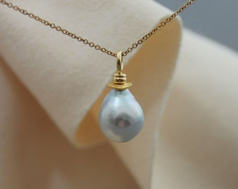 Bao - Rare South Sea pearl pendant, pearl jewelry, pearl necklace, wedding, anniversary,  for her, gift idea, woman, Bride, pearl fashion