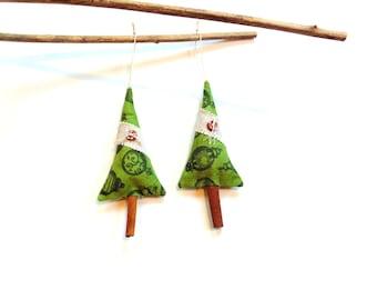 Sachet cinnamon stick Christmas trees, sachet ornaments, secret santa gifts under 10, stocking stuffer, scented organic pine