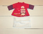 Hot Pink Tunic Dress and Leggings - 14 - 15 inch doll clothes