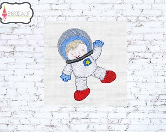 Astronaut machine embroidery design. Space explorer ready to BLAST OFFFF.... Cute space embroidery.